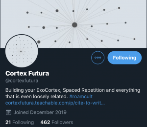 Cortex Futura Roam Research