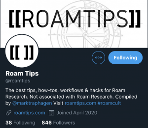 RoamTips Roam Research